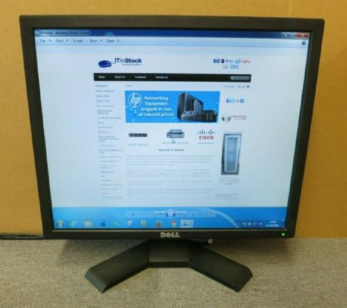 "Dell E190SF 0J388N J388N 19"" LCD TFT Flat Panel Black Computer Monitor VGA"